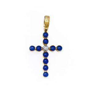 croce con lapislazzuli