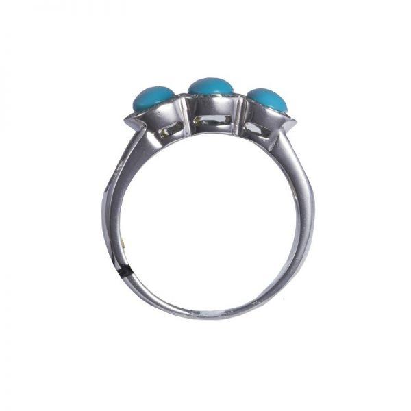 anello Recarlo con turchese ZM958/1B