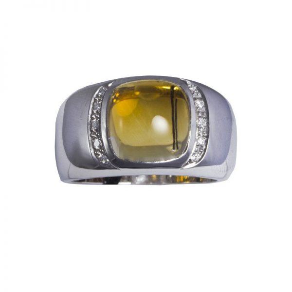 anello Recarlo con topazio citrino A446/B