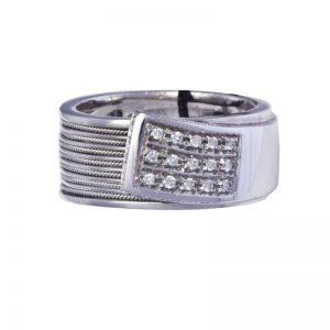 anello a fascia Recarlo con brillanti A 566/B