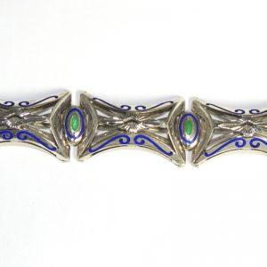 bracciale in argento e smalti stile vintage
