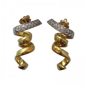 orecchini in oro e brillanti